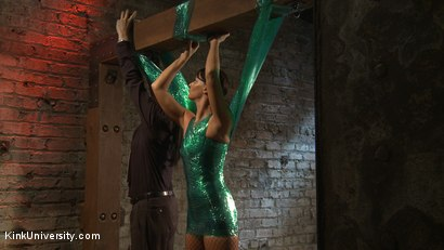 Photo number 36 from Plastic Wrap Suspension shot for Kink University on Kink.com. Featuring London River and Simon Blaise in hardcore BDSM & Fetish porn.
