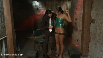 Photo number 5 from Plastic Wrap Suspension shot for Kink University on Kink.com. Featuring London River and Simon Blaise in hardcore BDSM & Fetish porn.