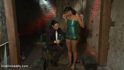 Photo number 7 from Plastic Wrap Suspension shot for Kink University on Kink.com. Featuring London River and Simon Blaise in hardcore BDSM & Fetish porn.