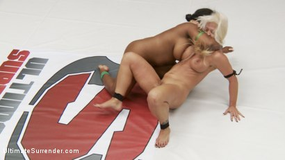 Photo number 8 from Extreme Wrestling causes one wrestler to quit after 2 rounds shot for Ultimate Surrender on Kink.com. Featuring Yasmine Loven and Holly Heart in hardcore BDSM & Fetish porn.