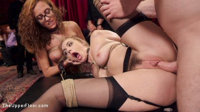 Photo number 15 from The Innocent Doll & Anal Slut Slave  shot for The Upper Floor on Kink.com. Featuring Roxanne Rae, John Strong and Keira Nicole in hardcore BDSM & Fetish porn.