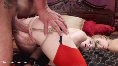 Photo number 7 from Anal Slut Slaves Learn The Quiet Game shot for The Upper Floor on Kink.com. Featuring Christie Stevens, Alina West and Marco Banderas in hardcore BDSM & Fetish porn.