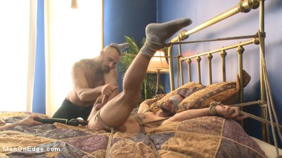 Photo number 12 from Texan stud receives his first edging in bondage shot for Men On Edge on Kink.com. Featuring Tex Davidson in hardcore BDSM & Fetish porn.