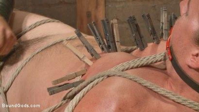Photo number 11 from Guy next door held in a stock, facefucked and flogged shot for Bound Gods on Kink.com. Featuring Kip Johnson and Christian Wilde in hardcore BDSM & Fetish porn.