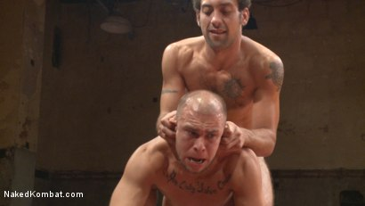 Photo number 7 from Eli Hunter vs. DJ - The Veteran Returns  shot for Naked Kombat on Kink.com. Featuring Eli Hunter and DJ in hardcore BDSM & Fetish porn.