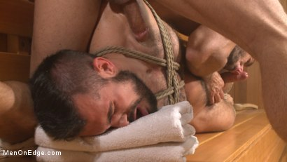 Photo number 13 from Cruising for Cock - Muscled jock gets tied up & fisted in the showers shot for Men On Edge on Kink.com. Featuring Aarin Asker in hardcore BDSM & Fetish porn.