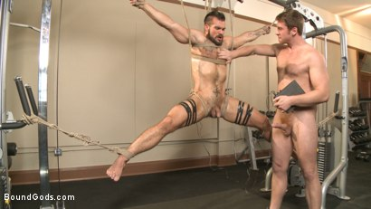 Photo number 7 from Ripped gym rat Aarin Asker takes a giant fist while in suspension shot for Bound Gods on Kink.com. Featuring Connor Maguire and Aarin Asker in hardcore BDSM & Fetish porn.