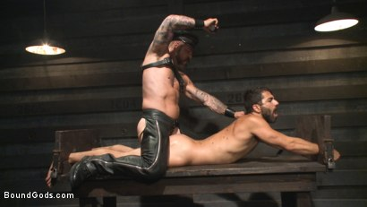Photo number 10 from The Return of Rocco Steele shot for Bound Gods on Kink.com. Featuring Rocco Steele and Adam Ramzi in hardcore BDSM & Fetish porn.