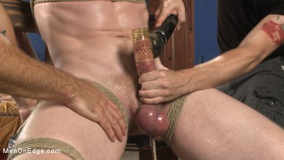 Photo number 11 from Cass Bolton - Muscled stud with huge balls gets the edging of his life shot for Men On Edge on Kink.com. Featuring Cass Bolton in hardcore BDSM & Fetish porn.