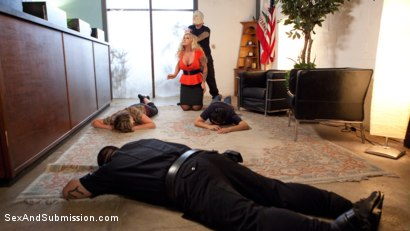 Photo number 2 from The Hostages  shot for Sex And Submission on Kink.com. Featuring Ryan Conner, Goldie Glock and Tommy Pistol in hardcore BDSM & Fetish porn.