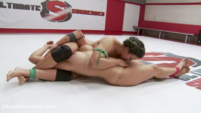 Photo number 10 from Orgasmic Wrestlers meet on the mats. It's inevitable that One will cum shot for Ultimate Surrender on Kink.com. Featuring Mia Li and Penny Barber in hardcore BDSM & Fetish porn.