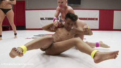 Photo number 6 from Gorgeous Fit Feather Weights Fight in Erotic Wrestling Match shot for Ultimate Surrender on Kink.com. Featuring Nikki Darling and Nikki Delano in hardcore BDSM & Fetish porn.