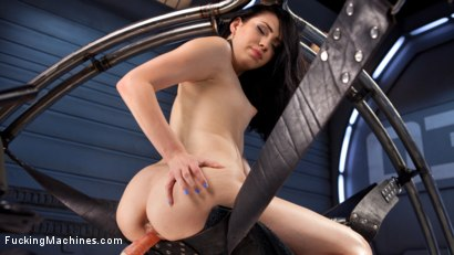 Photo number 11 from Brand New Fresh Meat - Aria Alexander  shot for Fucking Machines on Kink.com. Featuring Aria Alexander in hardcore BDSM & Fetish porn.