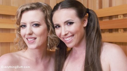 Photo number 11 from Sweaty Sauna Anal Lesbian Fisting show shot for Everything Butt on Kink.com. Featuring Casey Calvert  and Cherry Torn in hardcore BDSM & Fetish porn.