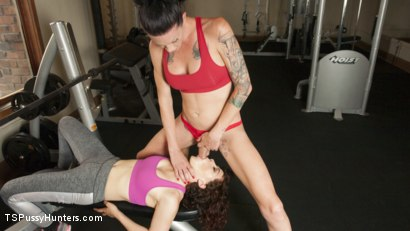 Photo number 4 from Hard Body Trainer seduces fitness Client and Cums in her ass shot for TS Pussy Hunters on Kink.com. Featuring Morgan Bailey and Ingrid Mouth in hardcore BDSM & Fetish porn.