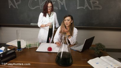 Photo number 2 from Chemistry Students accidentally discover the love potient shot for TS Pussy Hunters on Kink.com. Featuring Venus Lux and Ivy Addams in hardcore BDSM & Fetish porn.