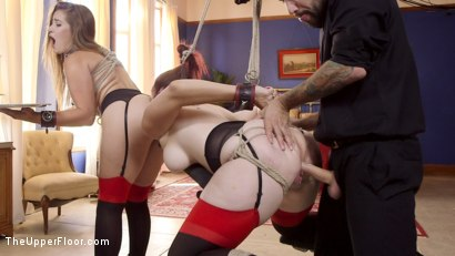 Photo number 13 from Afternoon Delight: Twin Set of Sex Slaves Well Used shot for The Upper Floor on Kink.com. Featuring Dani Daniels, Tommy Pistol and Bella Rossi in hardcore BDSM & Fetish porn.
