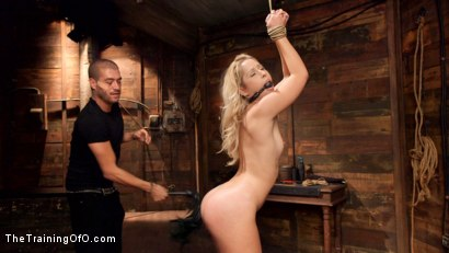Photo number 1 from Tiny Shaved Cunt Pounded: Goldie Day One shot for The Training Of O on Kink.com. Featuring Xander Corvus and Goldie Rush in hardcore BDSM & Fetish porn.