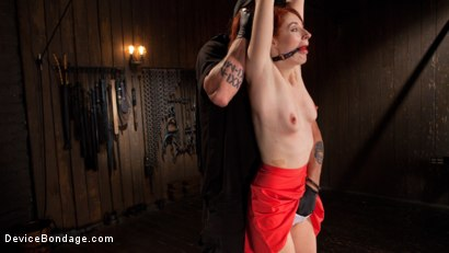 Photo number 3 from Getting The Devil Out shot for Device Bondage on Kink.com. Featuring Violet Monroe and The Pope in hardcore BDSM & Fetish porn.