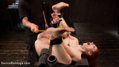 Photo number 10 from Getting The Devil Out shot for Device Bondage on Kink.com. Featuring Violet Monroe and The Pope in hardcore BDSM & Fetish porn.