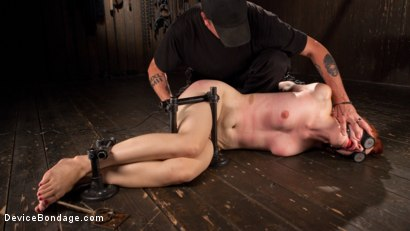 Photo number 8 from Getting The Devil Out shot for Device Bondage on Kink.com. Featuring Violet Monroe and The Pope in hardcore BDSM & Fetish porn.