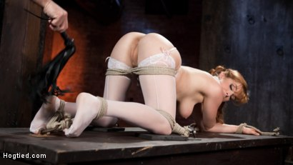 Photo number 6 from Red Headed Anal Queen is Helpless in Grueling Bondage shot for Hogtied on Kink.com. Featuring Penny Pax and The Pope in hardcore BDSM & Fetish porn.