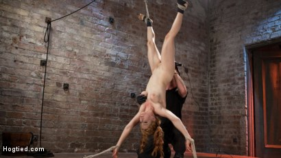 Photo number 11 from Red Headed Anal Queen is Helpless in Grueling Bondage shot for Hogtied on Kink.com. Featuring Penny Pax and The Pope in hardcore BDSM & Fetish porn.
