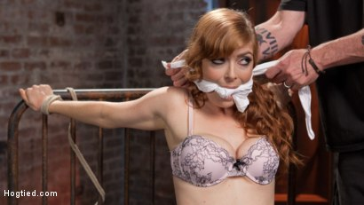 Photo number 14 from Red Headed Anal Queen is Helpless in Grueling Bondage shot for Hogtied on Kink.com. Featuring Penny Pax and The Pope in hardcore BDSM & Fetish porn.