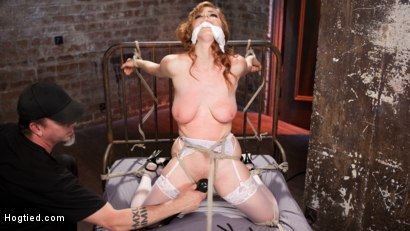 Photo number 2 from Red Headed Anal Queen is Helpless in Grueling Bondage shot for Hogtied on Kink.com. Featuring Penny Pax and The Pope in hardcore BDSM & Fetish porn.