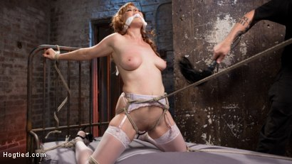 Photo number 3 from Red Headed Anal Queen is Helpless in Grueling Bondage shot for Hogtied on Kink.com. Featuring Penny Pax and The Pope in hardcore BDSM & Fetish porn.