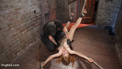 Photo number 9 from Red Headed Anal Queen is Helpless in Grueling Bondage shot for Hogtied on Kink.com. Featuring Penny Pax and The Pope in hardcore BDSM & Fetish porn.
