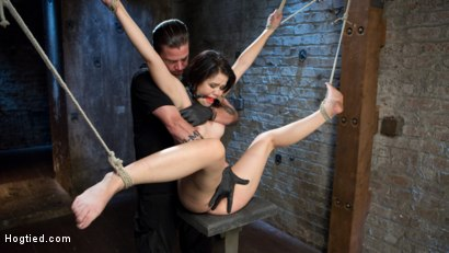 Photo number 12 from Sweet Yhivi is Decimated in Brutal Bondage, Torment, and Screaming Orgasms! shot for Hogtied on Kink.com. Featuring Yhivi and The Pope in hardcore BDSM & Fetish porn.