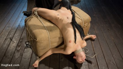 Photo number 7 from Newcomer is Man Handled, Bound in Brutal Bondage and Tormented shot for Hogtied on Kink.com. Featuring Nikki Knightly and The Pope in hardcore BDSM & Fetish porn.