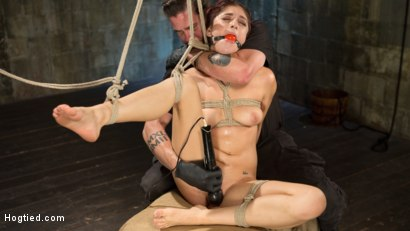 Photo number 11 from Newcomer is Man Handled, Bound in Brutal Bondage and Tormented shot for Hogtied on Kink.com. Featuring Nikki Knightly and The Pope in hardcore BDSM & Fetish porn.