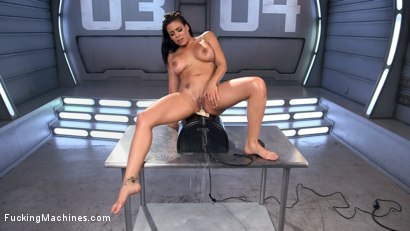 Photo number 15 from Latin Bombshell Fucked into Squirting Orgasms!! shot for Fucking Machines on Kink.com. Featuring Luna Star in hardcore BDSM & Fetish porn.