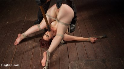 Photo number 7 from Big Tits, Brutal Bondage, Extreme Corporal Punishment, and Squirting Orgasms!!! shot for Hogtied on Kink.com. Featuring Bella Rossi and The Pope in hardcore BDSM & Fetish porn.