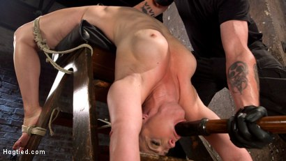 Photo number 2 from Big Tits, Brutal Bondage, Extreme Corporal Punishment, and Squirting Orgasms!!! shot for Hogtied on Kink.com. Featuring Bella Rossi and The Pope in hardcore BDSM & Fetish porn.