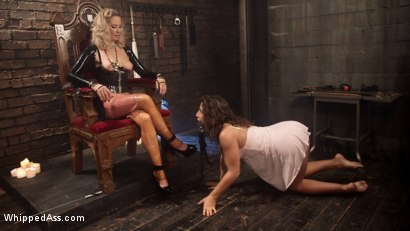 Photo number 1 from Slave to Desire: Maitresse Madeline dominates 19-year-old lesbian anal slut! shot for Whipped Ass on Kink.com. Featuring Abella Danger and Maitresse Madeline Marlowe in hardcore BDSM & Fetish porn.