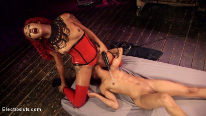 Photo number 9 from Daisy's Revenge: Nikki Darling shocked and anally strap-on Fucked! shot for Electro Sluts on Kink.com. Featuring Daisy Ducati and Nikki Darling in hardcore BDSM & Fetish porn.