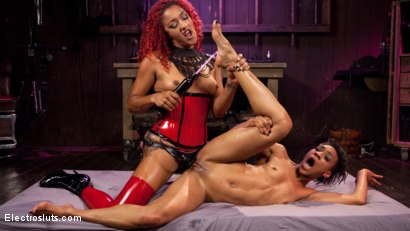 Photo number 10 from Daisy's Revenge: Nikki Darling shocked and anally strap-on Fucked! shot for Electro Sluts on Kink.com. Featuring Daisy Ducati and Nikki Darling in hardcore BDSM & Fetish porn.