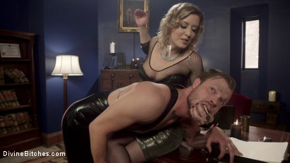 Photo number 5 from The Divine Bitches Corporation Office Slave shot for Divine Bitches on Kink.com. Featuring Mike Panic and Cherry Torn in hardcore BDSM & Fetish porn.