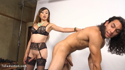 Photo number 26 from Venus Lux Breaks In The Newbie On Her Solid Cock shot for TS Seduction on Kink.com. Featuring Venus Lux and Javier LoveTongue in hardcore BDSM & Fetish porn.