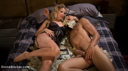 Photo number 7 from #GiveYourMoneyToWomen shot for Divine Bitches on Kink.com. Featuring Maitresse Madeline Marlowe and Javier LoveTongue in hardcore BDSM & Fetish porn.