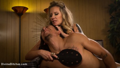 Photo number 3 from #GiveYourMoneyToWomen shot for Divine Bitches on Kink.com. Featuring Maitresse Madeline Marlowe  and Javier LoveTongue in hardcore BDSM & Fetish porn.