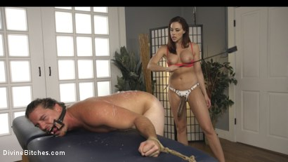 Photo number 6 from Foot Sniffing Yoga Thug Gets Divine Bitched! BASED ON TRUE EVENTS! shot for Divine Bitches on Kink.com. Featuring Kip Johnson and Chanel Preston in hardcore BDSM & Fetish porn.