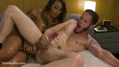 Photo number 7 from Transsexual Hooker With a Gigantic Cock! shot for TS Seduction on Kink.com. Featuring Honey FoXXX and Wolf Hudson in hardcore BDSM & Fetish porn.