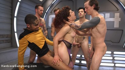 Photo number 4 from Star Trek: The Next Penetration - First Gangbang & Double Penetration! shot for Hardcore Gangbang on Kink.com. Featuring Ingrid Mouth, Mickey Mod, Owen Gray, Wolf Hudson, Will Havoc and Gage Sin in hardcore BDSM & Fetish porn.