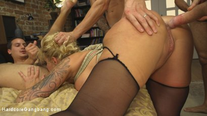 Photo number 10 from Wet Hot American Stepmom: MILF/COUGAR gangbanged by stepson & friends! shot for Hardcore Gangbang on Kink.com. Featuring Ryan Conner, Owen Gray, Gage Sin, Sonny Nash and Mickey Mod in hardcore BDSM & Fetish porn.