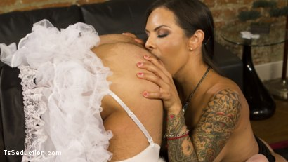Photo number 9 from Punished By Her Dominating Cock shot for TS Seduction on Kink.com. Featuring DJ and TS Foxxy in hardcore BDSM & Fetish porn.