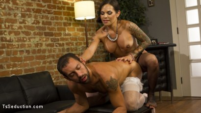 Photo number 17 from Punished By Her Dominating Cock shot for TS Seduction on Kink.com. Featuring DJ and TS Foxxy in hardcore BDSM & Fetish porn.
